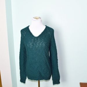 L. À. Hearts Green Sweater